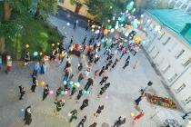 Детский праздник у памятника Ф.П. Гааза на Малом Казенном